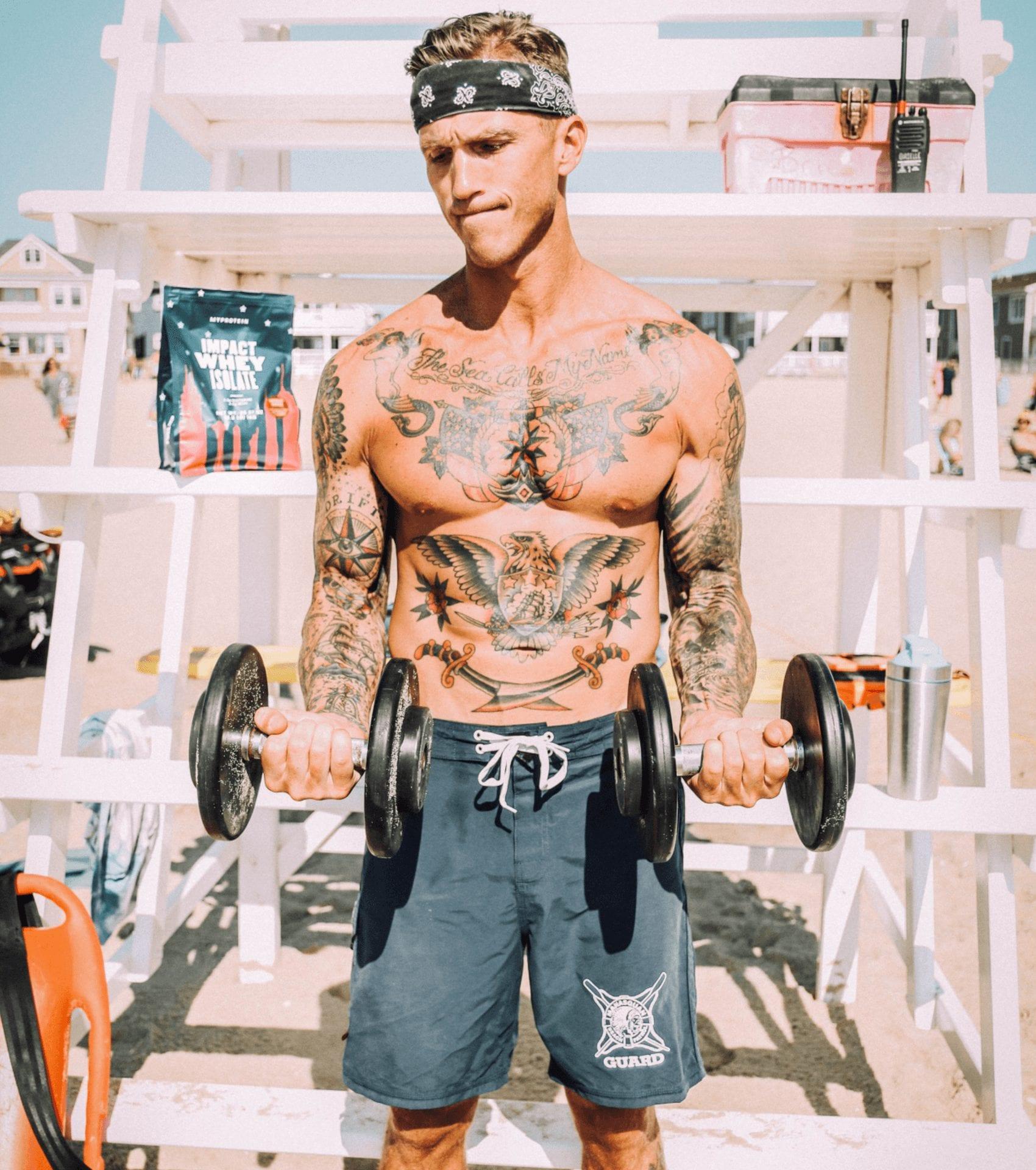beach workout