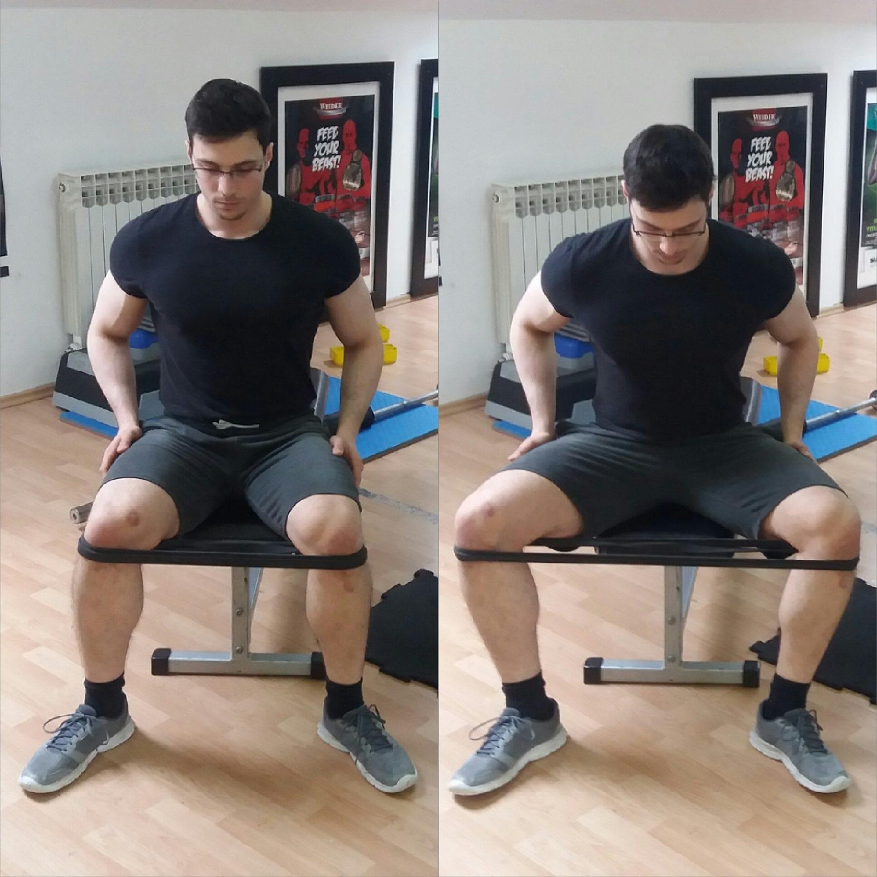 Širenje nogu u sjedećem položaju (transverzna abdukcija)
