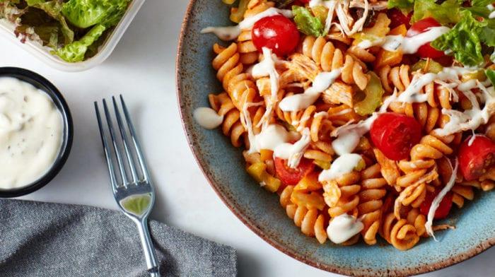 Salata Od Tjestenine i Buffalo Piletine | Priprema obroka za 3 dana