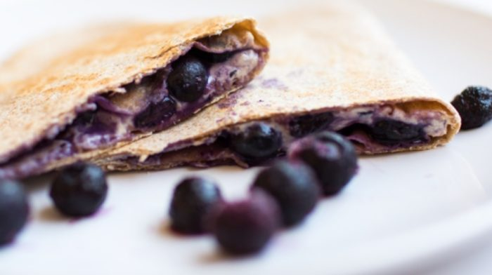 Breakfast Blueberry Quesadilla