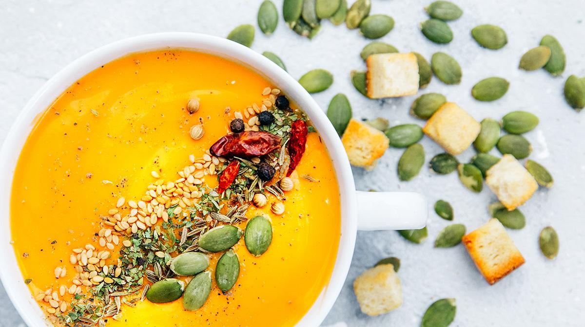 Vegan Diet Soup Seeds