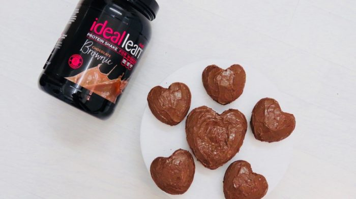 Valentine's Day Chocolate Protein Brownies