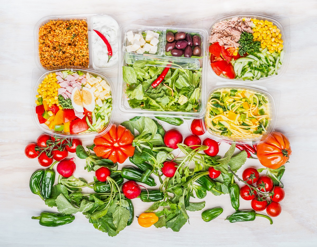 eating more healthy foods - meal prep