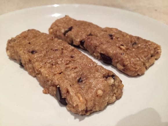 Barres protéinées saveur cookie