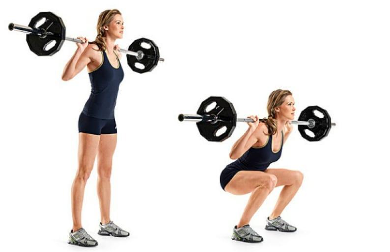 Squat exercice fessier