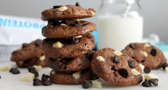 Cookies aux trois chocolats  |  Recette diététique et protéinée