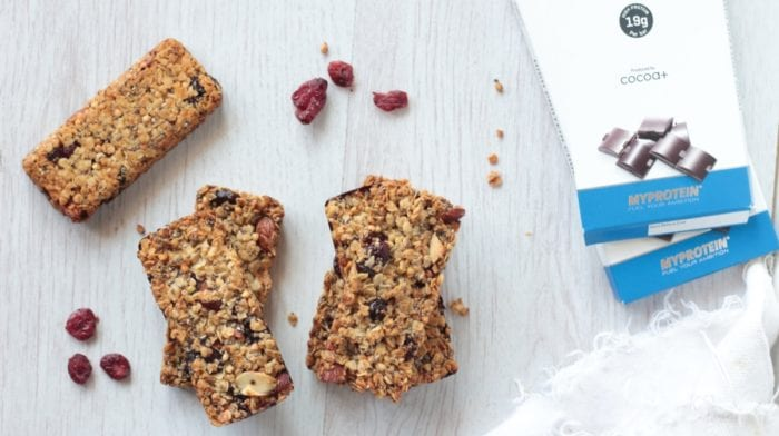 Barres de céréales Chia Cranberries | Recette facile
