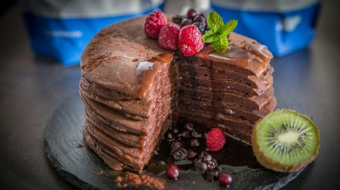 Pancakes au chocolat protéinés