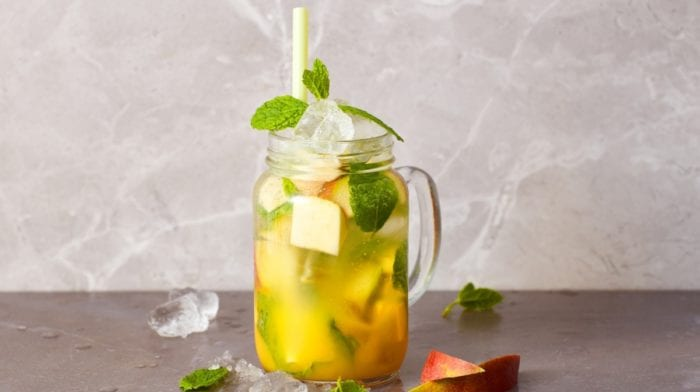 Mocktail de mangue, pêche et BCAA