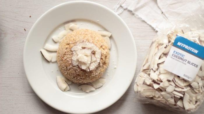 Bowlcake healthy à la noix de coco