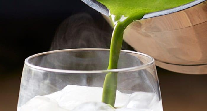thé latté au thé vert matcha