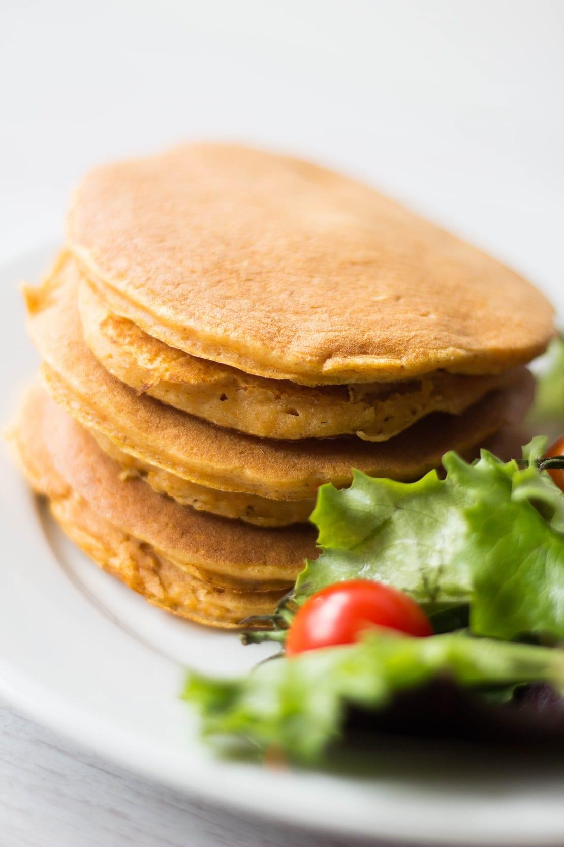 pancake à la patate douce version salée