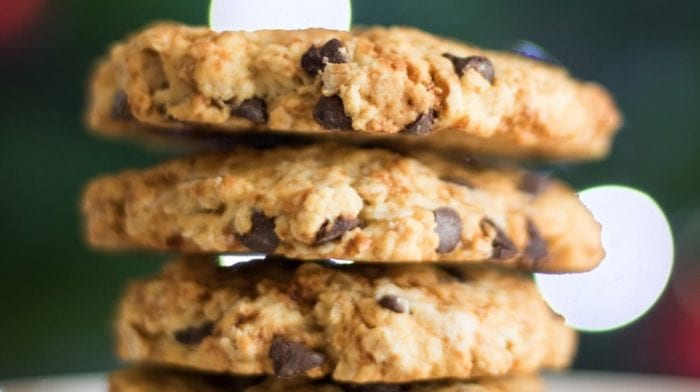 Recette de Cookie aux flocons d'avoine et pépites de chocolat