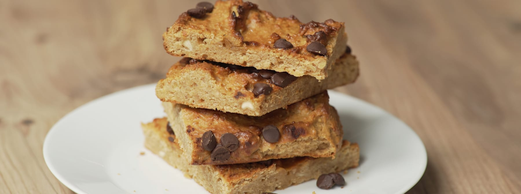 Blondies Vegan | Blondies protéinés à base de pois-chiches