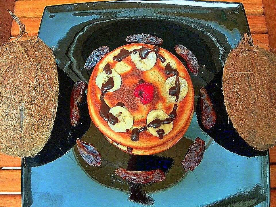 Schoko-Kokos-Pfannkuchen
