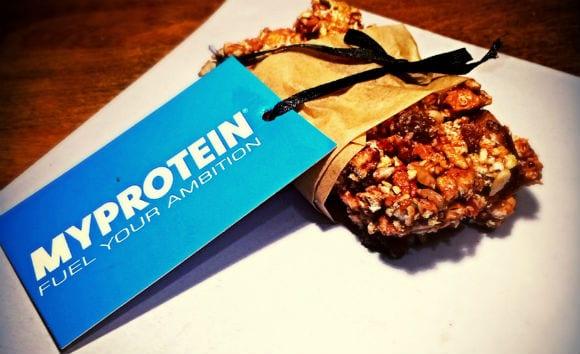 Proteinriegel aus gepufftem Weizen