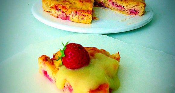 Protein Rhabarber Kuchen