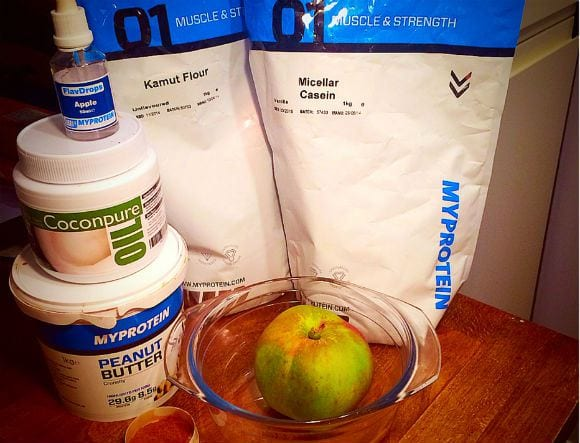 Protein-Apple-Crumble