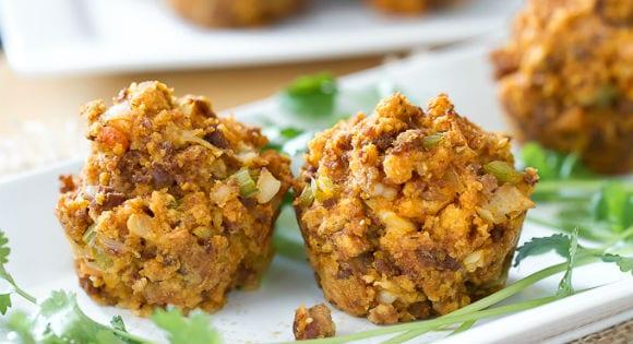 Mini Muffins mit Hähnchen & Schwein