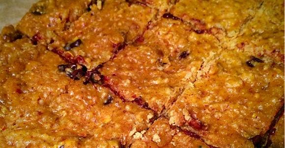 Flapjack-Proteinriegel aus Süßkartoffel und Quinoa