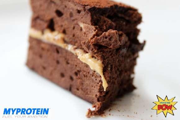 Protein Rezept | Schokokuchen mit Cashewbutter