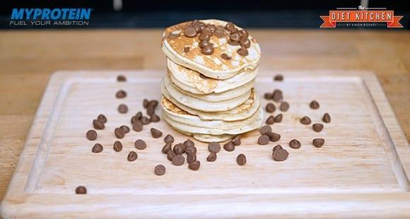Choc-Chip Bananen Protein Pancakes