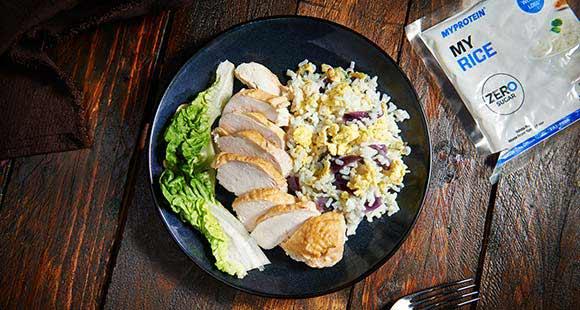 Low Carb Rührei mit Reis