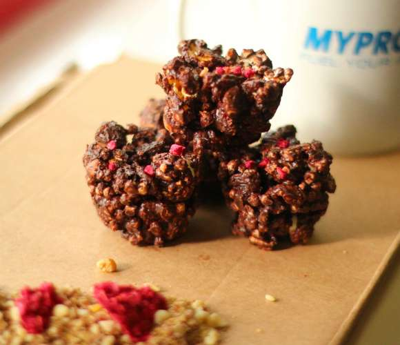 Schokoladen Protein Crispies