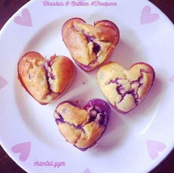 Cheescake Muffins mit Beeren