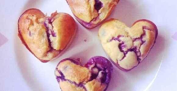 Cheesecake Muffins mit Beeren