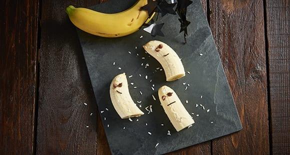 Halloween Rezept: Bananen Gespenster