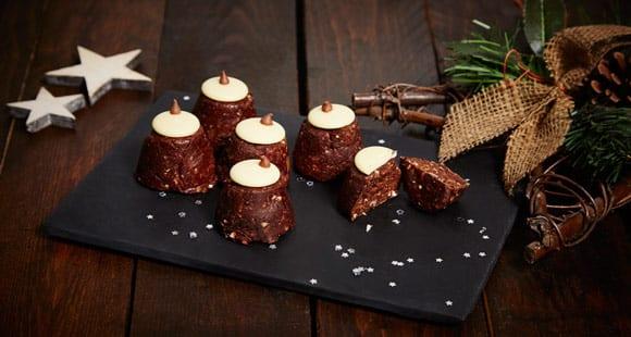 Weihnachtsrezept: Gesunde Pudding Häppchen