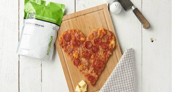 High Protein Pizza Herz | Gesundes Valentinstag Rezept