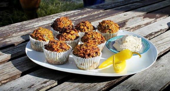 Würzige Karotten Muffins | Herzhaftes Muffin Rezept
