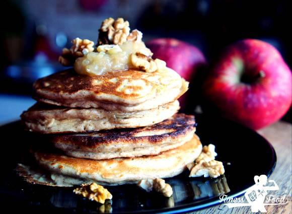 Apfel-Joghurt Pancakes | Gesunde Protein Pfannkuchen