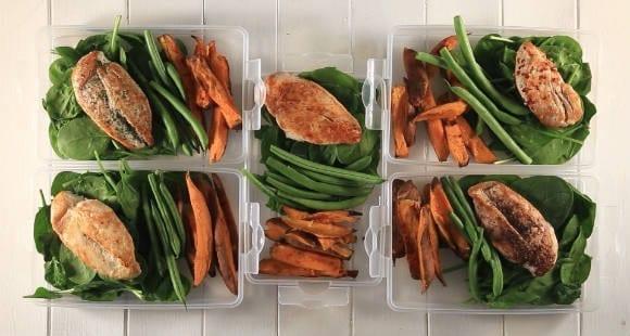 Meal-Prep für Anfänger: Hähnchenbrust mit Süßkartoffeln & Grünen Bohnen | Video Rezept