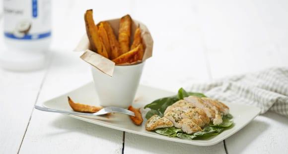 Petersilien Hähnchen mit Süßkartoffeln | Paleo Rezept
