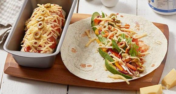 Vegetarischer Burrito | Fitness Snack Rezept