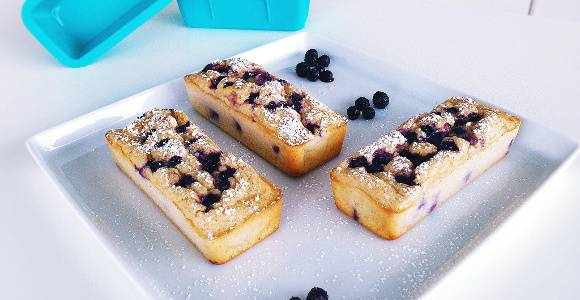 Zitronen Quark-Küchlein | Fitness Snack Rezept