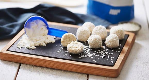 Vanille-Kokos Proteinbällchen | Gesunde Süßigkeit