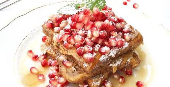 French Toast mit Granatapfel | Snack Rezept