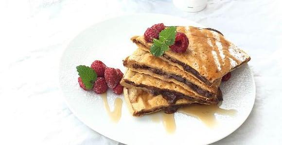 Protein Pancakes mit Füllung | Fitness Frühstück