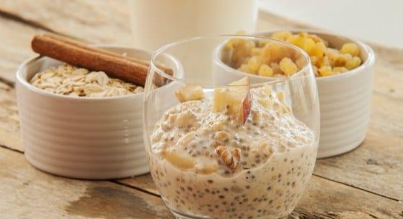Apfel, Maca & Chiasamen Pudding | Gesundes Superfood Rezept