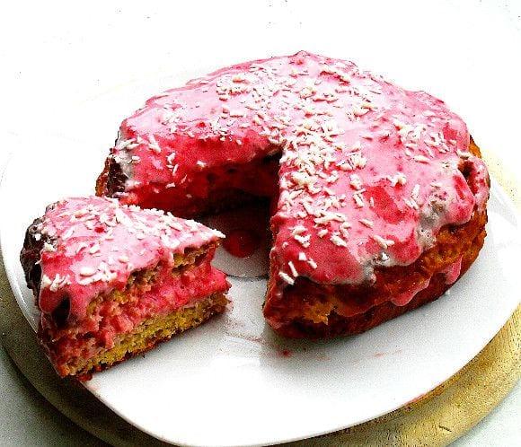 Fruchtiger Protein Kuchen | Protein Dessert