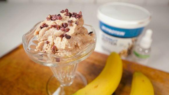 Erdnussbutter Bananen Eis | Gesundes Dessert