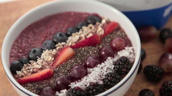 Beerenfrüchte Protein Porridge | Gesunde Frühstücks Ideen