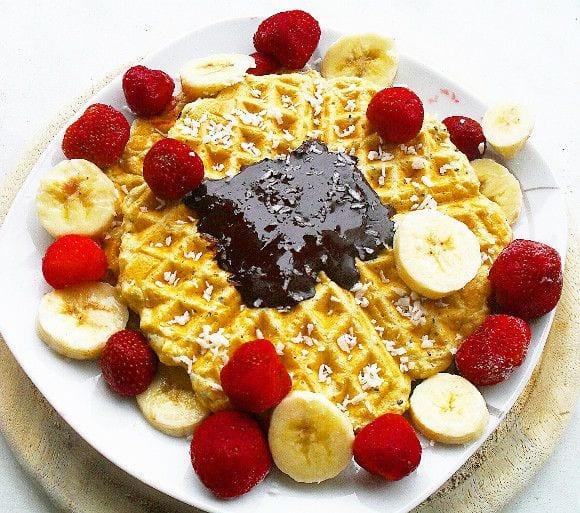 Fluffige Protein Waffeln | Gesundes Frühstück