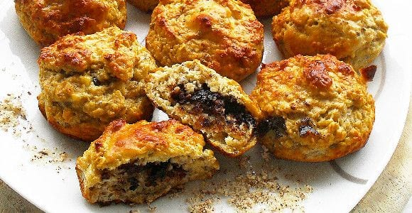 Protein Muffins mit Füllung | Leckerer Snack