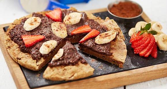 Schokoladen Pizza | Gluten- & laktosefreie Desserts