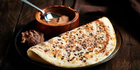 Kakao Protein Pancakes mit Schoko-Splittern | Protein Pancakes